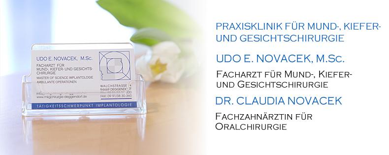Rundgang durch die Praxis von Mund Kiefer Gesichts Chirurgie Udo E. und Dr. Claudia Novacek Oralchirurg